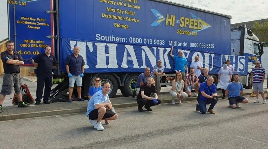 Hi Speed Services raises thousands for 'survival packs' for NHS Frimley staff